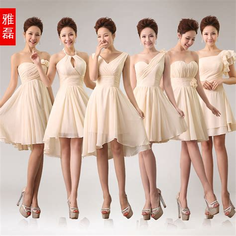 how to style your bridesmaid dress for every summer wedding guest 0991 chagne 6 styles short pleated zipper bridesmaid