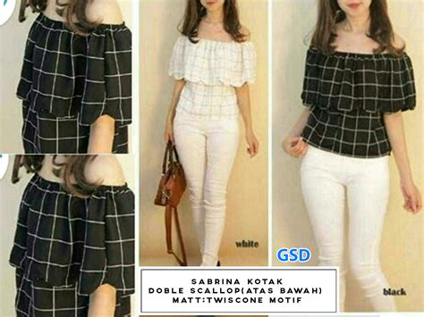 Sabrina Ribbon Top Navy Baju Import Bangkok grosir tanah abang baju import murah grosirdress