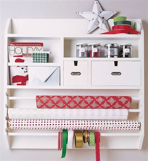 Craft Paper Organizer - wall mounted wrapping paper station