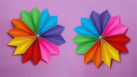 What To Make With Coloured Paper - how to make easy flower with color paper paper