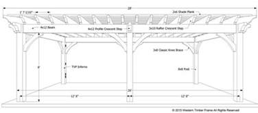 Plan for a carefree amp easy diy project 16 x 28 timber