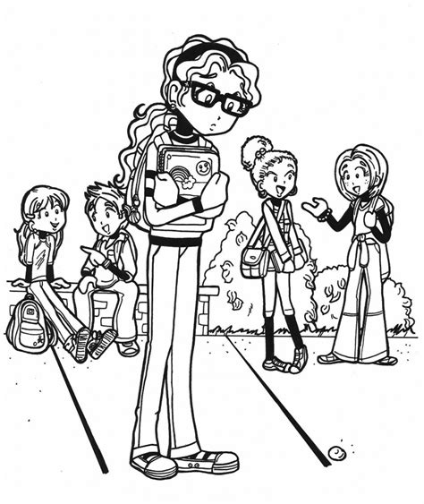 free coloring pages of dork diaries to print