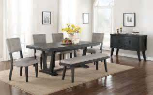 dinning room imari 7 piece dining room set black and grey leon s