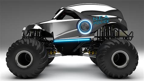 3d police monster truck 3d model n e a monster jam 174 monster truck on behance