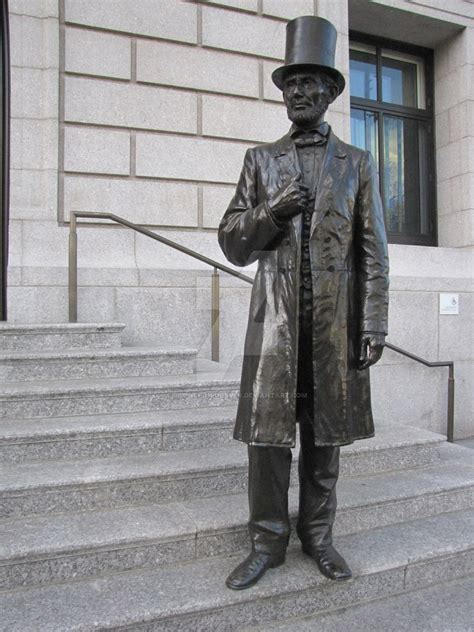 lincoln statues new york city abraham lincoln statue by silenced1forever