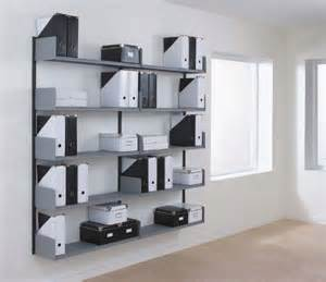 office spur type wall mounted shelving