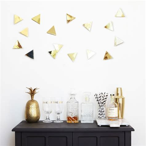 umbra confetti triangles wall decor brass geometric