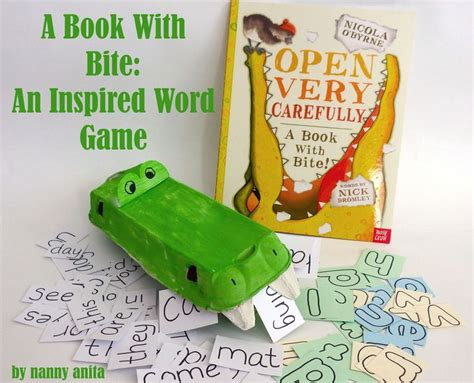 open carefully a book with bite books a word and letter activity for school and preschool aged
