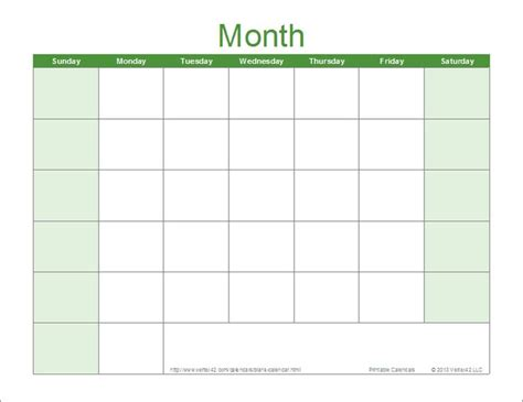 blank calendar template for excel calendars pinterest