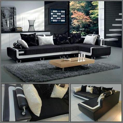 divano soggiorno dafne cm angolare bianco  nero