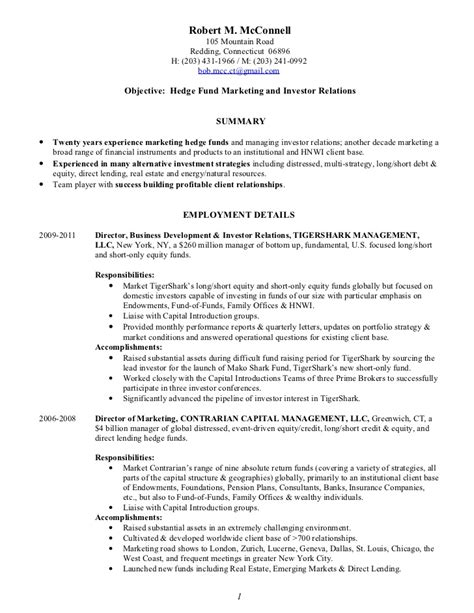 robert m mc connell resume