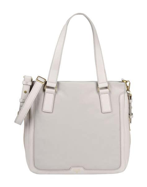 Fossil Tote Grey Bag Zb7126020 fossil handbag in gray light grey lyst