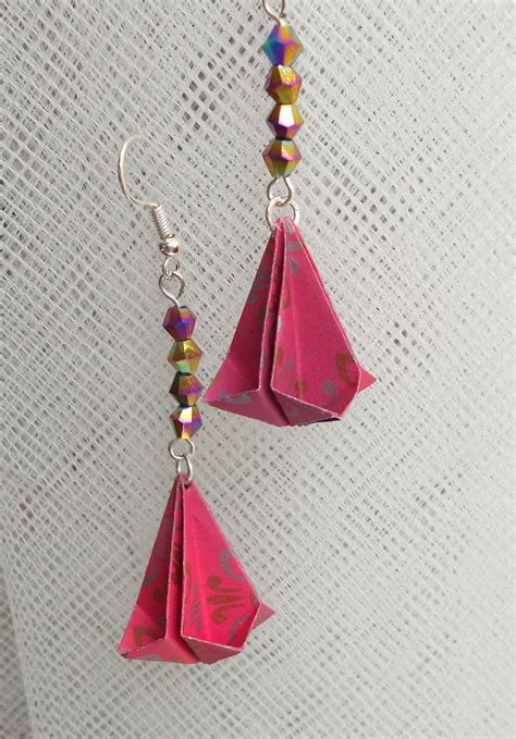 Origami Earring - origami teardrop earrings by sakuralu83 on deviantart