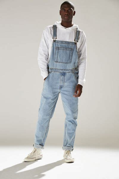 Ripped Overall By Ganez Shop bdg light stonewash denim overall outfitters