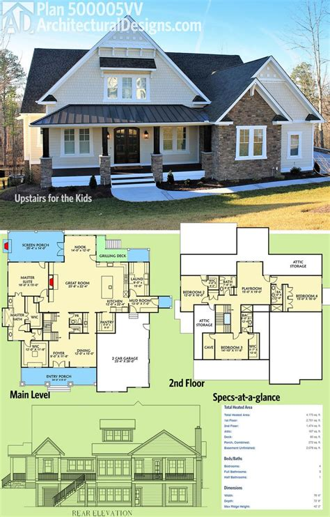 house plans 5 bedrooms 2018 plans maison en photos 2018 architectural designs house plan 500005vv was designed to give the