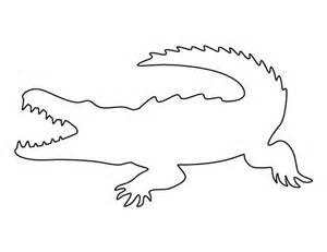 Crocodile Image Outline by Crocodile Pattern Use The Printable Outline For Crafts Creating Stencils Scrapbooking And