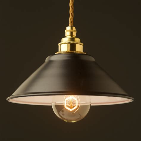 Black Pendant Lights Flat Black Light Shade 190mm Pendant
