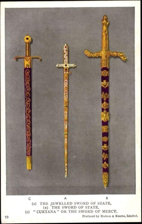 cortana sword postcard the jewelled sword of state curtana sword of