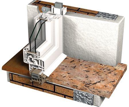 davanzale in alluminio sistema di controtelaio in pvc migliora il rendimento