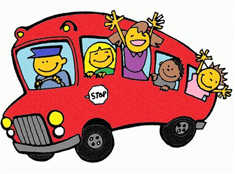 imagenes transporte escolar animado autobuses en dibujos imagui