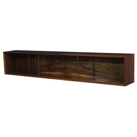 Floating Credenza wall mount floating rosewood credenza for sale at 1stdibs