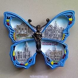 Gudang Souvenir Magnet Kulkas Mancanegara Belgia jual souvenir tempelan kulkas butterfly brussels belgia