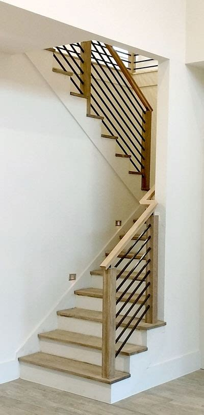 modern stair railing contemporary wood and stainless