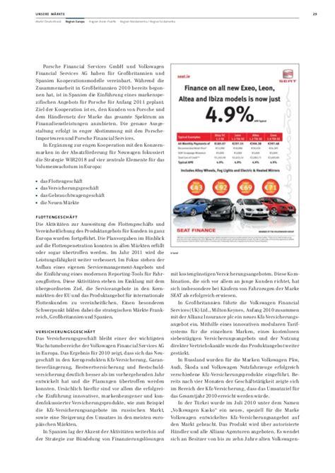 Porsche Financial Services Gmbh Vw Financial Services Ag Jahresabschluss 2010
