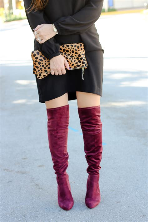 wine colored boots ivanka saffri the knee boots sunflowers and