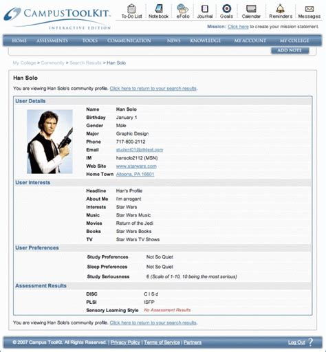 personal profile template best a picture of a personal profile resume exle template