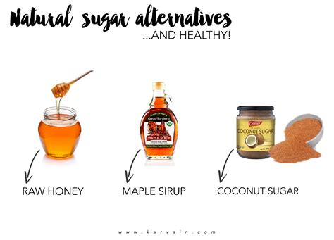 3 natural sugar alternatives karvain
