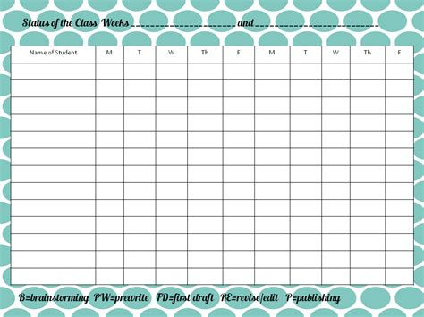 Behavior Chart Template For Teachers 10 best images of behavior charts for teachers free