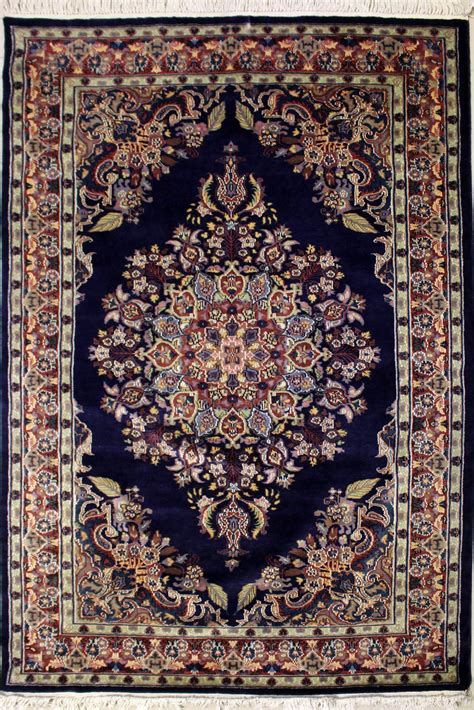 4 6x6 6 Rug Kirman Handmade Pak Persian Silk And Wool Pak Rugs