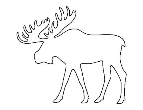 moose template moose pattern use the printable outline for crafts