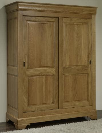 armoire chene massif 2 portes armoire 2 portes jean baptiste en ch 234 ne massif portes
