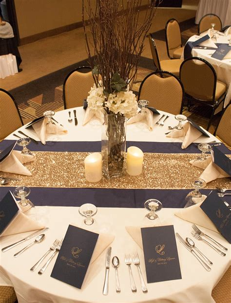 blue and gold home decor south dakota wedding with gold sparkle navy blue and true