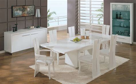 White Dining Room Table Modern Dining Room Modern White Dining Room Table And Chairs Gallery White Rectangular Dining Table
