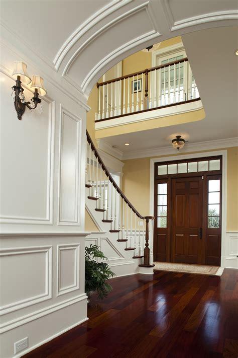 foyer stairs molding   home builders custom