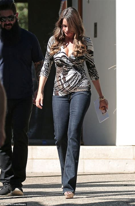 Belinda Blouse Set By Shofiya sofia vergara steals the show in a low cut top on the set of modern family daily mail