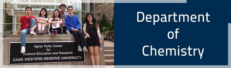 Western Reserve Mba Curriculum by Department Of Chemistry The Department Of Chemistry At