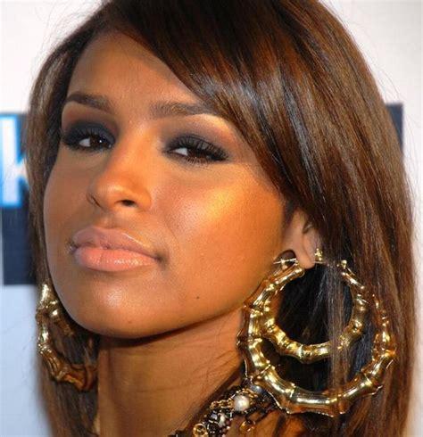 Rihanna Supersized Hoop Earrings by Rihanna Basketball Gold Tone Bamboo Joint Hoop