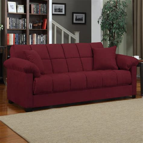 futon for living room red sleeper sofa convertible couch microfiber living room