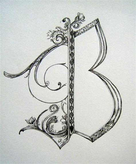 Letter Drawings Letter B By Chris Jeanguenat From 2010