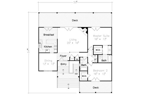 beach bungalow floor plans stilt house plan with decks and charm