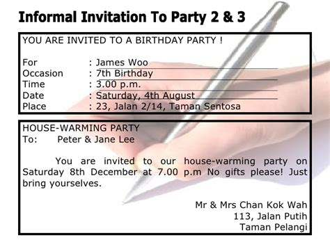 Reply Invitation Letter Birthday Invitations