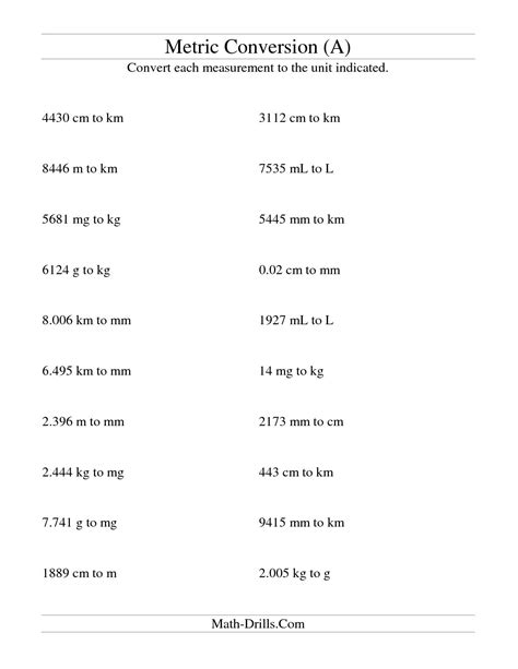 Metric Mania Worksheet Answers by 14 Best Images Of Metric System Conversion Worksheet