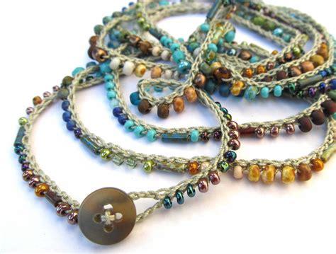 beaded jewelry bracelets crochet beaded bracelet wrap bracelet terra aqua by