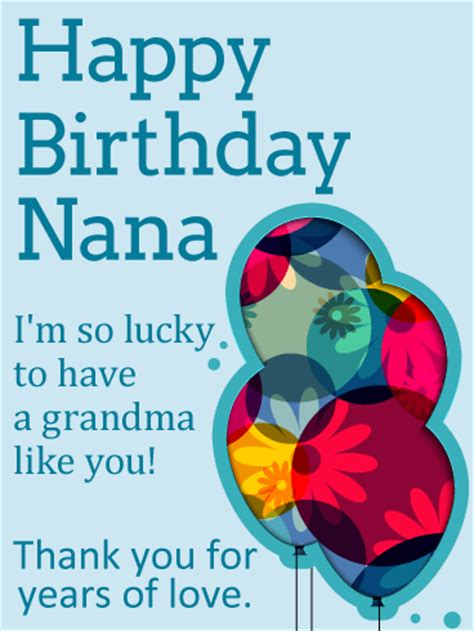 Happy Birthday Nana Cardsss So Lucky To Have You Happy Birthday Card For Grandma