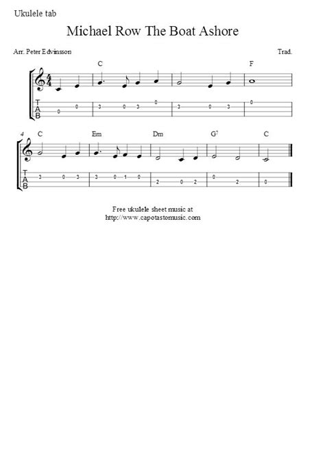 michael row the boat guitar chords 92 best images about ukulele songs on pinterest good