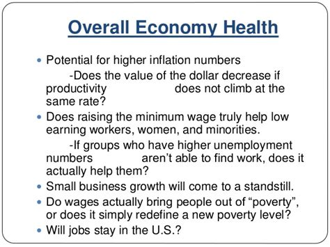 Mba Ppt On Inflation by Mba 592 Presentation An Analysis Of The Federal Minimum Wage